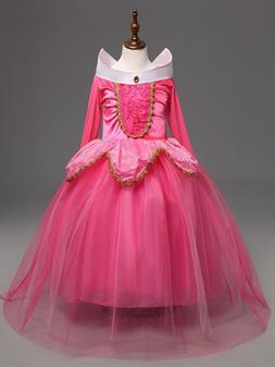 Sleeping Beauty Princess Aurora Party Dress  kids Costume Dr