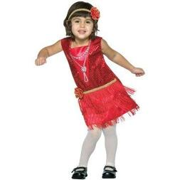 Toddler Flapper Dress Costume Size: Toddler 3-4T