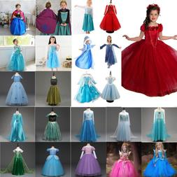 Toddler Kids Baby Girls Anna Elsa Princess Party Fancy Dress