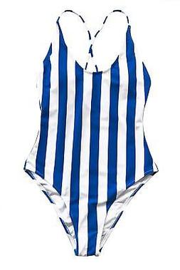 CUPSHE Women's Invisible Wing Cross One-Piece Swimsuit Beach
