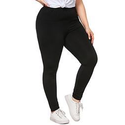 Women's Plus Size Solid Yoga Pants Tummy Control Stretch Wor